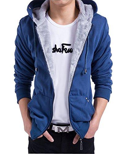 Faux Fur Hoody Hoodie Sweater - S&S Men's Fashion Casual Faux Fur long Sleeve Hoodies Outwear Sweatshirt