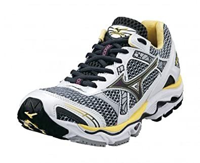 eac6f505f24c2 Amazon.com | Mizuno Lady Wave Nirvana 7 Running Shoes - 8.5 - White ...