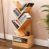 Magshion Tree Bookshelf Compact Book Rack Bookcase Display Storage Furniture for CDs, Movies & Books (5 Shelf)