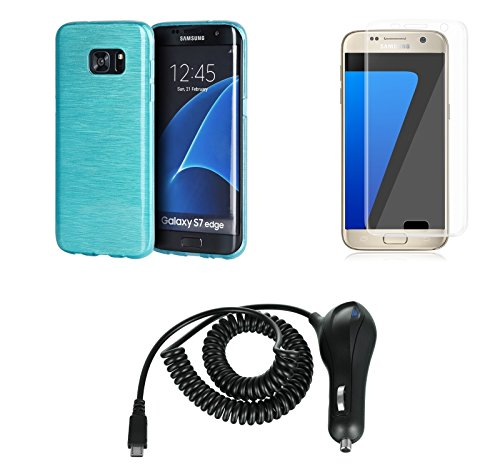 Shockproof Armor Case for Samsung Galaxy S7 Edge (Crystal/Aqua) - 7