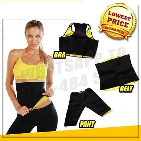 5c8e4292ae SWEET SWEAT WAIST TRIMMER Women s Nylon Slimming Body Shaper Combo (Black