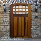Pacific Gate Works Portland Side Yard Gate 100% Solid Wood, Heirloom Quality Craftsmanship