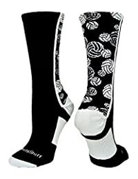 Crazy Volleyball Logo Crew Socks (multiple colors)