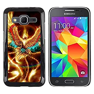 Impact Case Cover with Art Pattern Designs FOR Samsung Galaxy Core Prime Golden Shiny Phoenix Mystical Creature Wings Betty shop