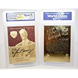 PEYTON MANNING 1998 Draft Pick FEEL THE GAME Gold Card - Graded GEM MINT 10