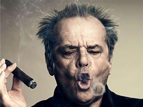 Doppelganger33 Ltd Photography Portrait Actor Jack Nicholson Cigar Smoke Ring Canvas Art Print (Jack Nicholson Best Actor)