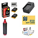 Extended Life Replacement Battery Packs For the Canon LP-E6 LPE6 1750MAH Each 3500MAH in Total For the Canon EOS 5D Mark 2 3 II III 5DM2 5DM3 6D 7D 60D 60Da 70D DSLR Digital Camera, 2 Batteries In Total + 1 hour AC/DC Rapid Battery Charger + Bonus Opteka