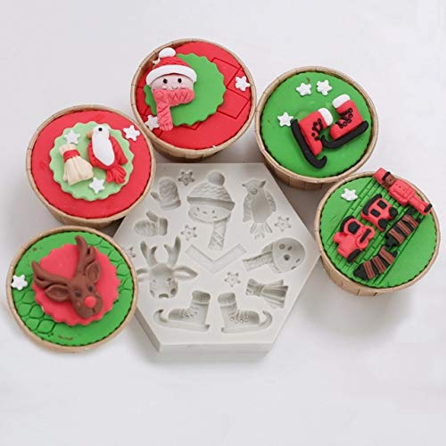 Merry Christmas Silicone Cake Mold Santa Claus North Pole Silicone Mold Chocolate Fondant Mold Cake Decoration
