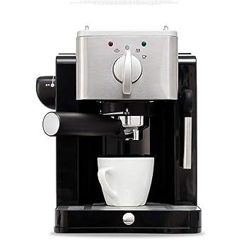 Shisky Vapor de alta presión para uso doméstico máquina de café semiautomática 15 bar de extracción de alta presión, panel de metal de acero inoxidable: ...