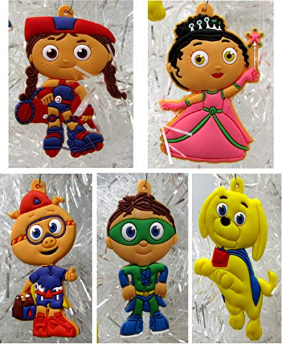 (Ornament Super WHY Holiday Christmas Set - Unique Shatterproof Plastic)