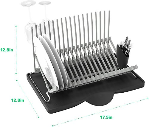 Vremi dish drying rack collapsible dish rack and drainboard set foldable space saving dish - Dish racks for small spaces set ...