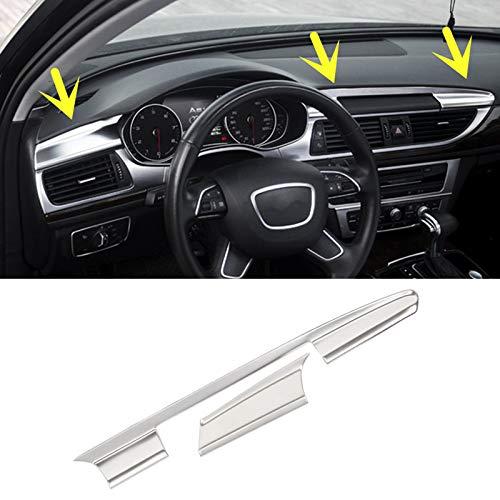 Interior Center Console Moulding Trim Cover 2pcs for Audi A6 S6 2012-2018 JINYIYUAN