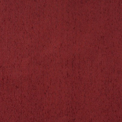 - F505 Brick Red Solid Chenille Upholstery Fabric by The Yard