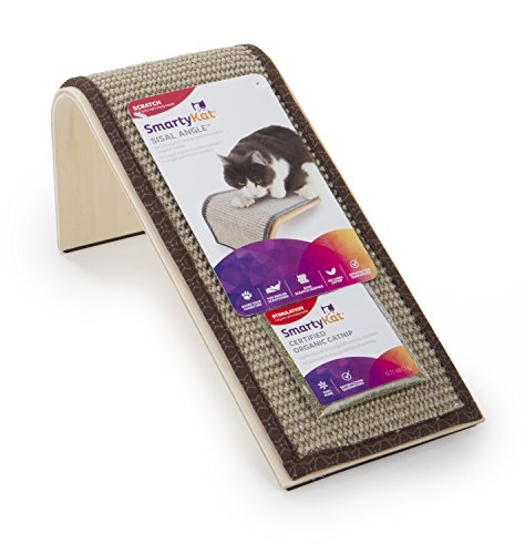SmartyKat Sisal Angle Cat Scratcher Sisal Incline Scratcher ()