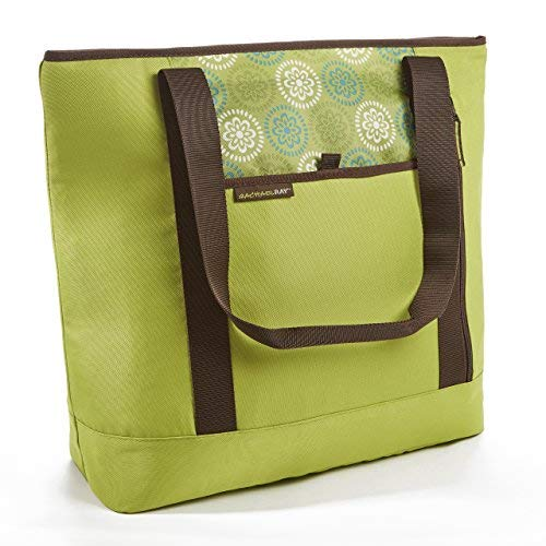 Rachael Ray ChillOut Shopper Tote, Insulated Reusable Grocery Bag, Green