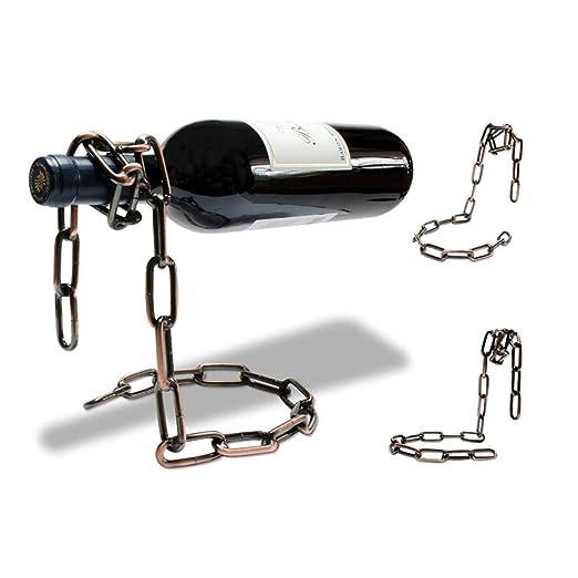 HUOXIAO Botella De Vino Collar De La Jaula De Diseño-Cobre Color ...