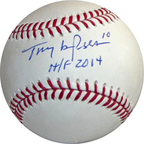 Tony La Russa Autographed Baseball Frozen Pond