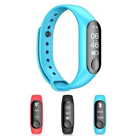 HRRH Relojes Bluetooth Smart, Deportivo Elegante Reloj con Pulso presión Arterial Despertador Paso, Fitness