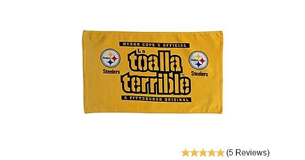 Amazon.com : PITTSBURGH STEELERS MYRON COPE SPANISH LA TOALLA TERRIBLE TOWEL : Everything Else