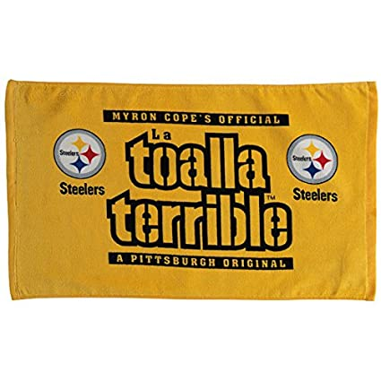 PITTSBURGH STEELERS MYRON COPE SPANISH LA TOALLA TERRIBLE TOWEL