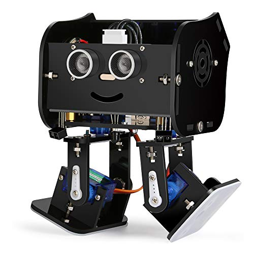 ELEGOO Arduino Project,Penguin Bot Arduino Biped Robot Kit with Assembling Tutorial,STEM Kit for Hobbyists, STEM Toys for Kids and Adults, Black Version