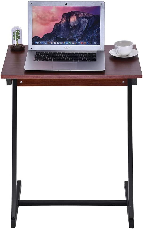 NIHAI Laptop Desk Easy to Assemble Z Type Sofa End Table TV Stand Side Table Snack Tray for Home Living Room Balcony Study Office 18.9 x 17x25.6inches