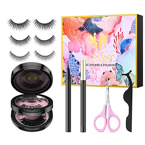 CICI&SISI Magic Eyelashes and Eyeliner Kit