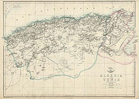 Amazon.com: NORTH AFRICA. \'Algeria and Tunis\'. Tunisia. WELLER ...