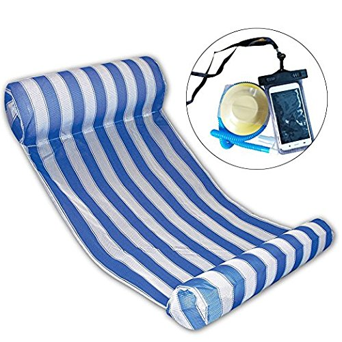 Premium Swimming Pool Float Hammock, Inflatable Swimming Pools Lounger, Water Hammock Lounge, Luxury Swimming Pool and Ocean Lilo (Blue)