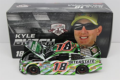 Lionel Racing Kyle Busch #18 Interstate Batteries 2016 Toyota Camry NASCAR Diecast Car (1:24 Scale), Chrome - Interstate Batteries Nascar