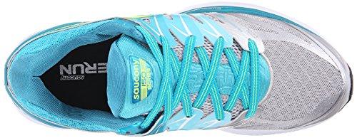 Saucony Hurricane Iso 2, Zapatillas de Running para Mujer Azul (Blue (Blue/Silver/Citron)Blue/Silver/Citron)