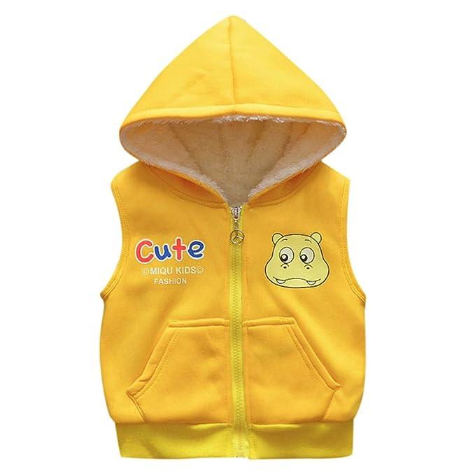 Abbigliamento sportivo Bambino Ragazze,Infantile Cartone Animato Giacche Bambino Bambino Piccolo Caldo Veat Panciotto Abiti Felpa con Cappuccio Cappotto 10.72