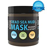 Natural Dead Sea Mud Mask - Face & Body - Organic Minerals - Rejuvenating & Detoxifying Minimizing Blackheads & Oily Skin Including Acne - Pore Cleansing Anti Aging Facial Mask for Women & Men - 400g