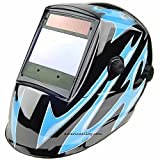 Solar Auto Darkening Welding Helmet 4″x3.7″ SUPER VIEW FOUR PRO censors welding hood for Tig Mig Arc welding and Grinding