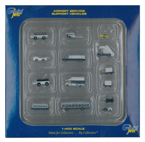(Gemini Jets Ground Airport Service Support Vehicles Accessories, 1:400 Scale, 14-Piece )