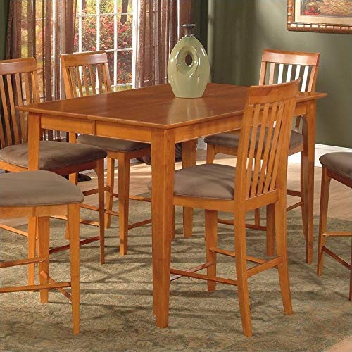 Atlantic Furniture Montreal Counter Height Pub Dining Table in Caramel Latte-39 x 39 Solid Table - 39 x 39 Solid - Dining Atlantic Table
