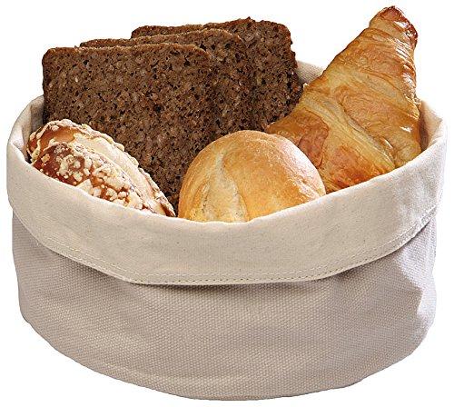Paderno World Cuisine 42875-20 Round Canvas Bread Basket, Beige by Paderno World Cuisine (Image #1)