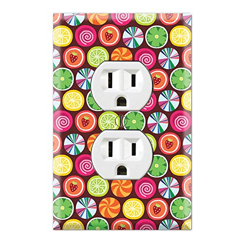 Candy Clover Strawberry Fruit Pattern Decorative Duplex Outlet Wall Plate Cover