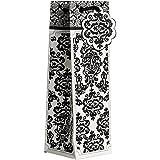 JAM Paper® Design Wine Bags - Black Damask - 120/case