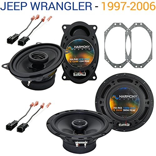 Fits Jeep Wrangler 1997-2006 Factory Speaker Replacement Harmony R46 R65 Package