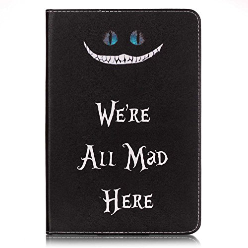 Mad Mini - iPad Mini 4 Case, FugouSell Ultra Slim Soft Silicone + PC Hybrid Smart Shell Case Cover for iPad Mini 4 (We're All Mad Here)
