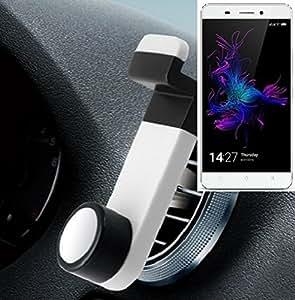 Smartphone universal Holder Holder / Car montaje / parabrisas para el Allview P8 Energy. blanco. Titular de teléfono de la rejilla de ventilación se puede utilizar con los teléfonos inteligentes y las tabletas de 5.2 cm - 9,4 cm de ancho. Titular Smartphone ventilación Teléfono móvil Holder Soporte para coche Rejilla de ventilación Air Vent Monte ranura de ventilación Holder, envío de Alemania en un día laborable