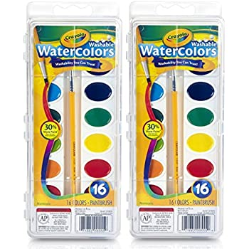 Crayola Crayola Washable Watercolors, 16 count (Pack of 2) Total 32 Count