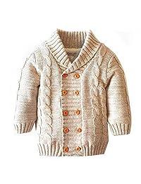YOUZHILAN Baby Toddler Boy Girl Christmas Long Sleeve Sweater Warm Fleece Jacket
