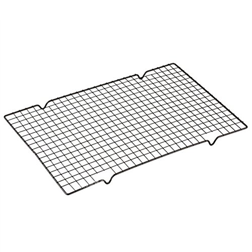 Nynoi baking drying rack Nonstick Cooling Black Rectangular Metal Mesh Nonstick Cake Cooling Rack Net For Cookies/Pies And Cakes Baking Rack Icing