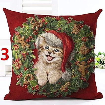 Amazon.com: Merry Christmas Decorative Throw Pillows Dog ...