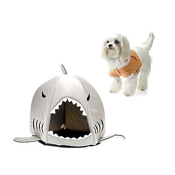 bailuoni Lovely suave con forma de tiburón mascota perro cachorro casa de la perrera Cama con cálido algodón Cush: Amazon.es: Productos para mascotas