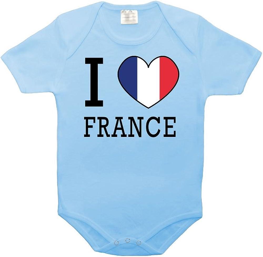 Mygoodprice Body b/éb/é 100/% Coton Drapeau I Love France