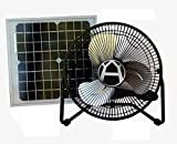 Western Harmonics 12 Inch Solar Powered High Velocity Fan