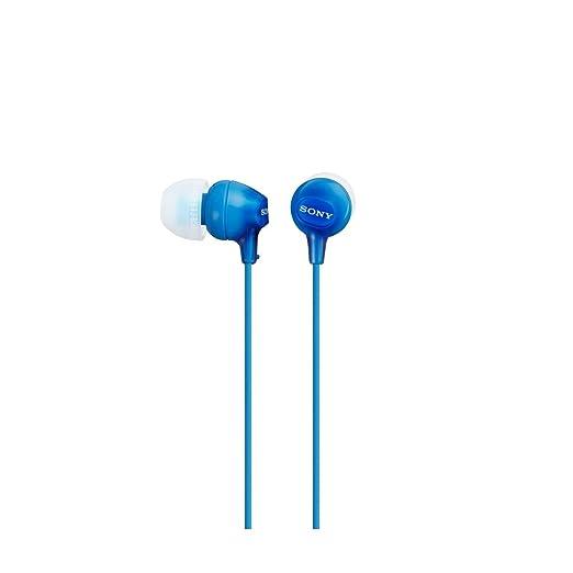 1031 opinioni per Sony MDR-EX15LP Cuffie Auricolari, 100 dB, 16 Ω, CCAW, Cavo 1.2 m, Azzuro